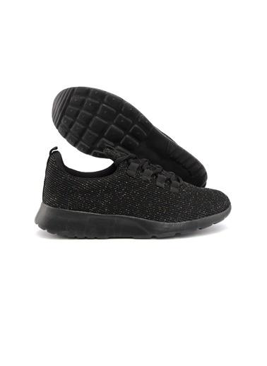 Letoon 2041 Kadın Spor Ayakkabı - Siyah Siyah